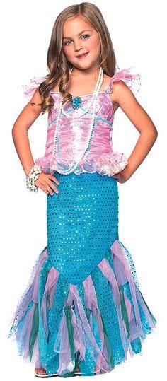 Magical Mermaid Childrens Costume
