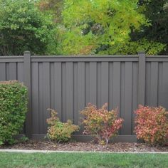 x 6 ft. Winchester Grey Wood-Plastic Composite Board-On-Board Privacy Fence Panel - The Home Depot Trex Seclusions 6 ft. x 6 ft. Winchester Grey Wood-Plastic Composite Board-On-Board Privacy Fence Panel Kit Backyard Privacy, Backyard Fences, Garden Fencing, Backyard Landscaping, Outdoor Privacy, Modern Backyard, Fenced In Backyard Ideas, Privacy Fence Landscaping, Landscaping Ideas