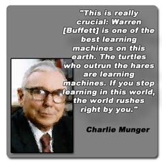 Munger on his lifeline friend Warren Buffet...Learning Machines, cool phrase.