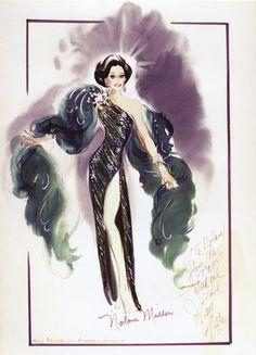 Nolan Miller sketch for Miss Ann Miller