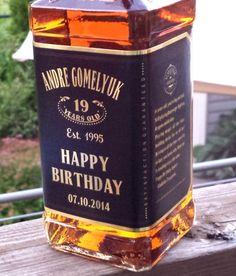 Personalized Gold Whiskey Labels. (Fit Jack Daniels Bottles) | MAGICPRINTSHOP - Print on ArtFire