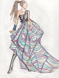 African Fashion Sketches
