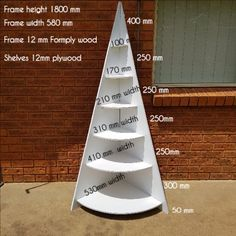 A step by step tutorial on how to make this unique corner Christmas tree shelf. The decor can be changed to suit any occassion. Very basic to build so it will be in time for christmas