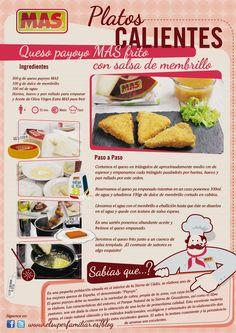 Receta de queso Payoyo frito con salsa de membrillo,