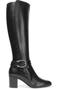 Gucci - Dionysus Leather Knee Boots - Black - IT37.5