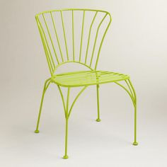 One of my favorite discoveries at WorldMarket.com: Apple Green Cadiz Metal Chairs, Set of 2