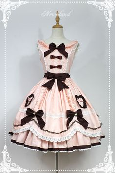 Neverland Lolita -Whisky Heart Chocolate- Lolita Jumper Dress
