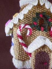 This is the fourth in a series of 24 linked patterns, published daily in December 2014, to decorate a knitted Gingerbread House. The pattern for the house itself is published separately.