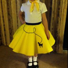 My Boo's '50's outfit for her 50's themed concert, later this month. Poodle skirt!