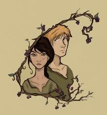 Katniss and Peeta - I love how this one is framed.