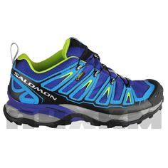 Zapatillas para trail X Ultra GTX en colores azul, gris y lima de Salomon para excursiones rápidas y todo tipo de terrenos.   Membrana impermeable GORE-TEX, que garantiza mantener tus pies secos impidiendo que pase el agua, sin impedir la transpiración.  http://www.acuatrosport.com/producto/_/zapatillas-de-trail-running-salomon-x-ultra-gtx-azul-gris-hombre-unisex.html