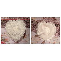 Lace Heart Shaped Bouquet By Bespoke Brooch Bouquets   https://www.facebook.com/pages/Bespoke-Brooch-Bouquets/183680988480469