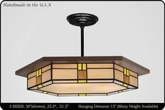 Craftsman Lighting Fixtures and Chanderliers Craftsman Chandeliers, Craftsman Lighting, Mission Furniture, Kitchen Island Lighting, Flush Ceiling Lights, Custom Glass, Colored Glass, Glass Shades