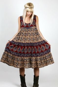 Vintage Bohemian Indian Dress - Skinny Bitch Apparel