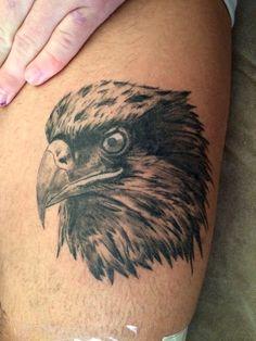 Eagle Tattoo healed