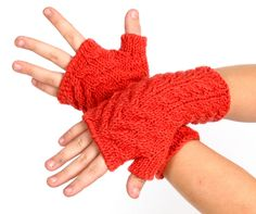Children Fingerless gloves - corall from MioLBoutique by DaWanda.com
