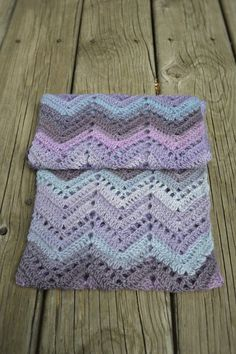 Crochet Chevron Infinity Scarf Purple and от HookedandThreaded