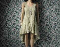 tribal ikat print hi low dress / fishtail / by persephonevintage >> hi low let's go