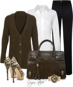 """Monday Morning"" by orysa on Polyvore - I usually don't like pants but these shoes are HOT!"
