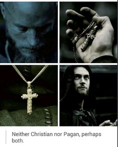 Ragnar and Athelstan, I love the show for continuing to explore Athelstan being trapped between two worlds. He can never truly belong to or escape from either.