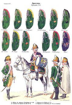 French Dragoons армия людовика 15