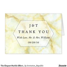 The Elegant Marble Effect Wedding Collection Card