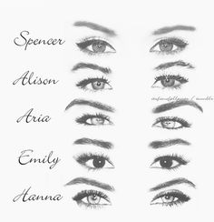 It's funny cuz I can tell whose eyes belong to who without the names on the side