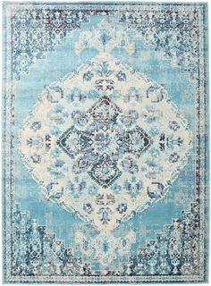 Turid - Niebieski 160x230 - RugVista Latex, Gliders, Embellishments, Rugs, Carpets, Home Decor, Outdoor Carpet, Modern Area Rugs, Contemporary Area Rugs