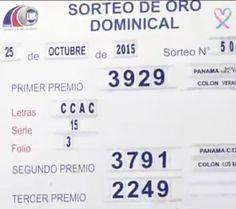 Resultados Loteria de Panama domingo 25/10/15. Ver: http://wwwelcafedeoscar.blogspot.com/2015/10/loteria-nacional-de-panama-resultados.html