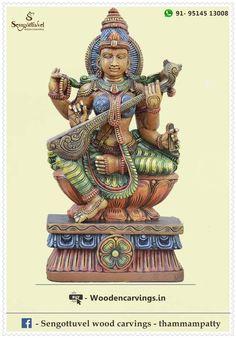 34 Sengottuvel ideas   wooden statues, statue, indian sculpture