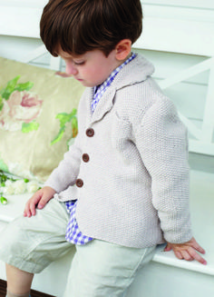 Kid's Moss Stitch Blazer in Debbie Bliss Eco Baby - download the knitting pattern from LoveKnitting