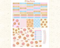 Cookies Printable Planner Stickers Cookies Stickers planner Weekly planner Stickers Erin Condren Life Planner stickers Sweet stickers ECLP by EnjoyPlanning on Etsy