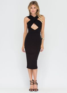 Double Life Cut-Out Bodycon Dress