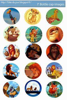 Free Bottle Cap Images: The Lion King Free digital bottle cap images
