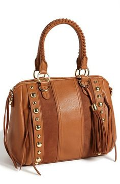 Jessica Simpson 'Karina' Faux Leather Satchel available at #Nordstrom Purple $98