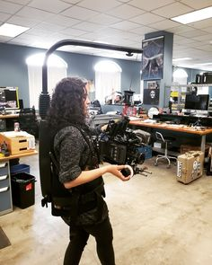 Interns Emily and Rachel demo the Easyrig Vario 5 with an ARRI Amira, Zeiss Superspeed, and Bright Tangerine Follow Focus. Good Cause, Zeiss, Boston, Bright, Photo And Video, Check, Instagram