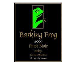 2009 Barking Frog Pinot Noir 750 mL #wine #winelabels #redwine #whitewine