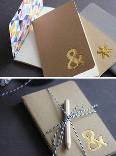 DIY: custom foil notebook #giftskidscanmake