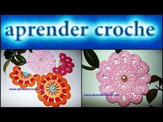 FLOR DE CROCHE PARA UNIR - FLORES EM CROCHE - YouTube Freeform Crochet, Crochet Videos, Crochet Flowers, Flower Power, Free Crochet, Coasters, Crochet Earrings, Diy Projects, Crafts