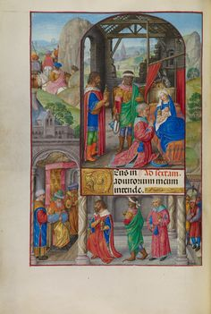 The Adoration of the Magi; Master of James IV of Scotland (Flemish, before 1465 - about 1541); Ghent, Belgium; about 1510 - 1520; Tempera colors, gold, and ink on parchment; Leaf: 23.2 x 16.7 cm (9 1/8 x 6 9/16 in.); Ms. Ludwig IX 18, fol. 130v; J. Paul Getty Museum, Los Angeles, California