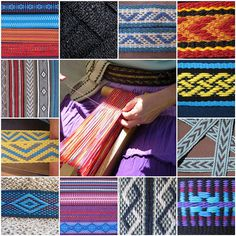 Inkle weaving mosaic from ASpinnerWeaver (Annie MacHale) on Flickr. #inkle weaving