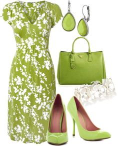 """""""spring green"""" by meganpearl on Polyvore"""