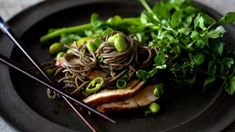 Soba noodle salad with Asian pesto