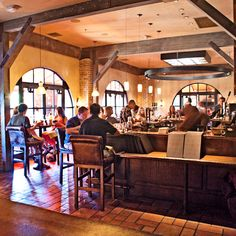The bar of Michael's restaurant Bottega in Yountville, California.