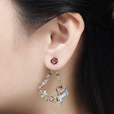 99ea19e99 Swallow Floral Drop Earring - Rhodium