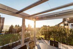 Sommergarten für Terrasse für den optimalen Wind & Wetterschutz für Terrasse & Balkon! Viele neue Ideen auch unter www.fenster-schmidinger.at/projekte