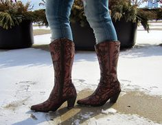 Pleasantly Petite: Sparkly cowboy boots