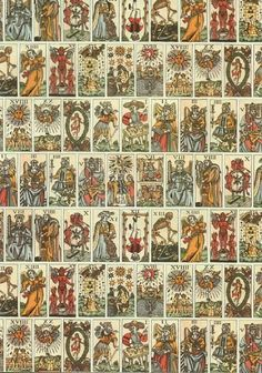 tarot card wrapping paper. i've always had an affinity for tarot cards.