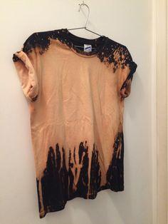 Bleached t-shirt bleach t shirts, t shirt diy, denim shirt, bleached denim, Tie Dye Shirts, Dye T Shirt, Bleach Shirt Diy, Bleach Tie Dye, T Shirt Diy, Diy Clothing, Custom Clothes, T-shirt Kunst, Upcycled Clothing