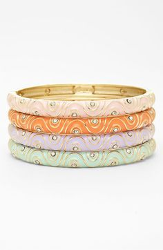 sequin bangle stack :: love these colors